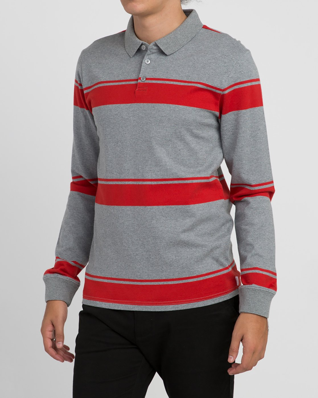 2 KL Rugby Long Sleeve Polo  MM906KLR RVCA