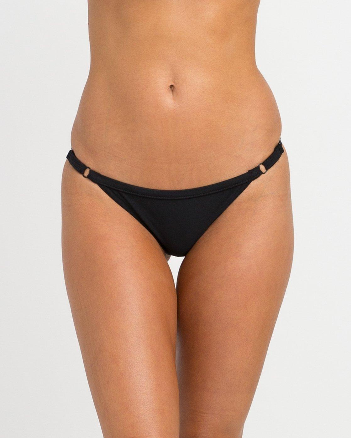 c78e9f7c9d 3 Solid Medium Bikini Bottoms Black SKXB01SM RVCA
