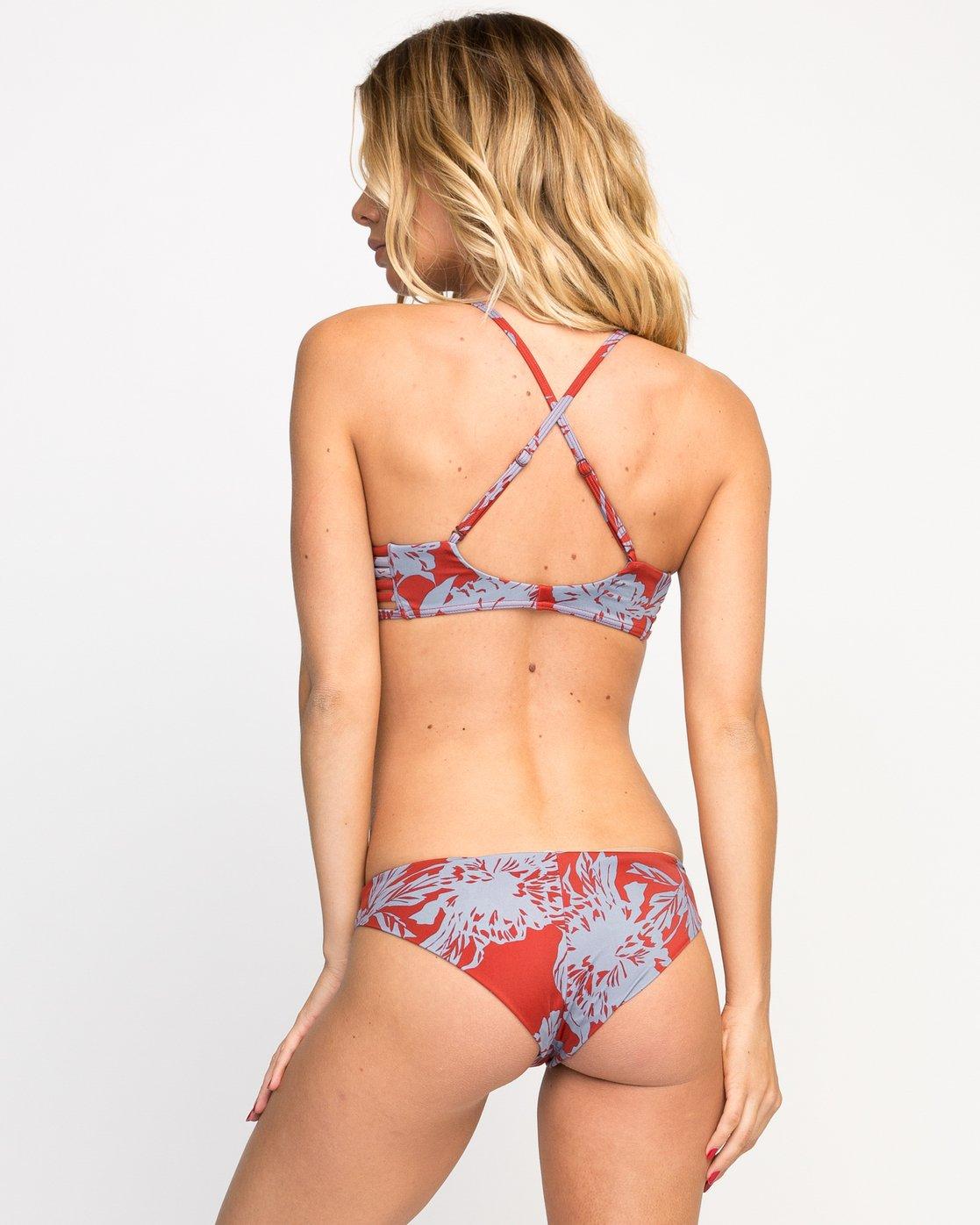 3 Deserted Floral Bralette Bikini Top  SMXT02DB RVCA