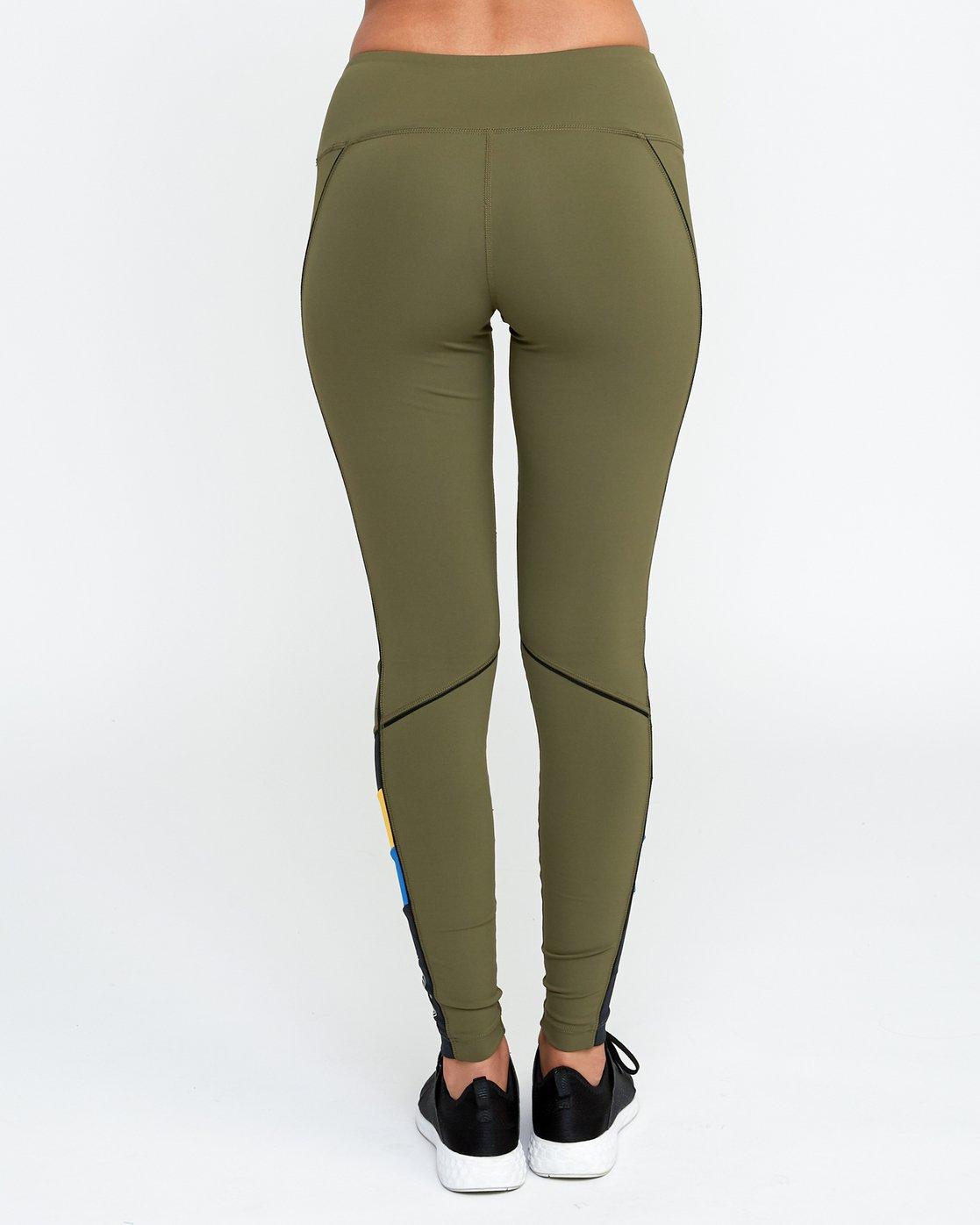 3 VA Legging Green T372QRLV RVCA