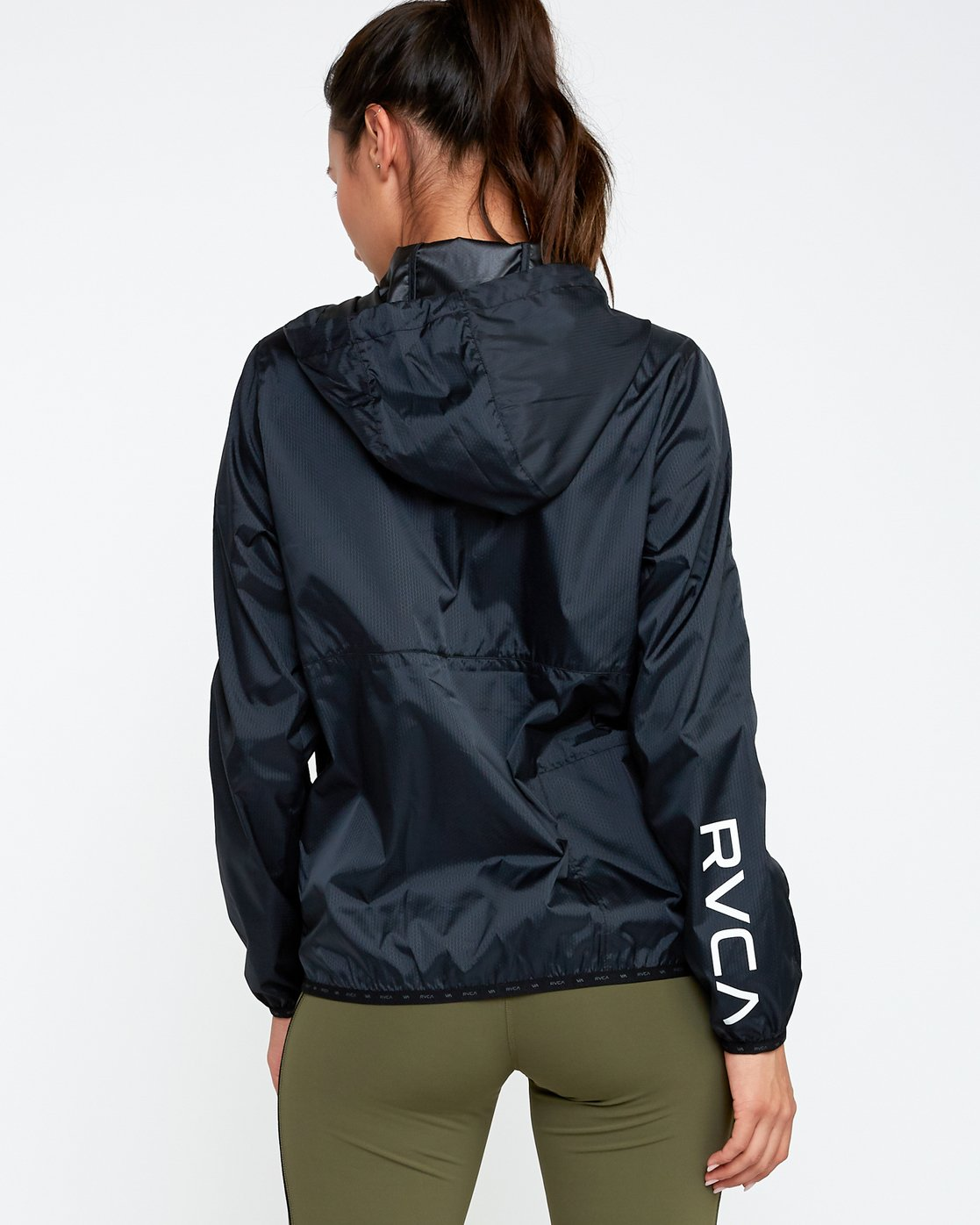 3 Hex Packable Windbreaker Jacket Black T704TRHE RVCA