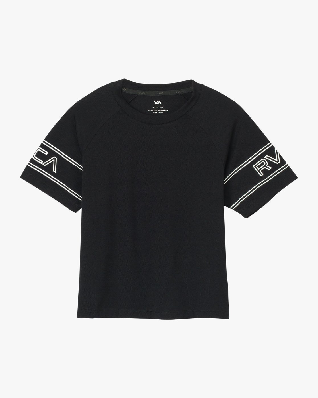 6 Freestyle Performance T-Shirt Black T975QRFR RVCA