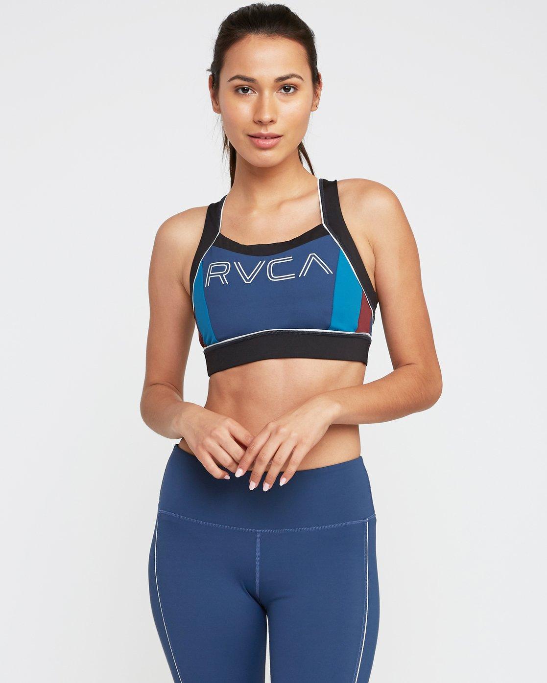0 VA Lock Sports Bra Blue TQ02QRLO RVCA