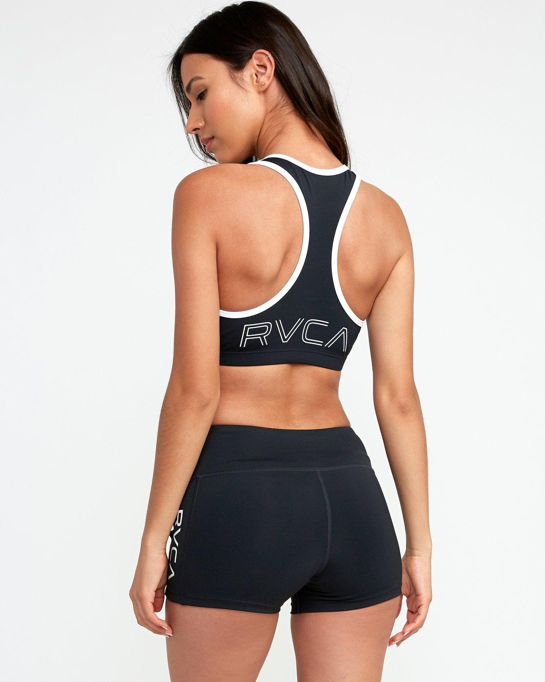 3 VA Takedown Sports Bra Black TQ02TRTD RVCA