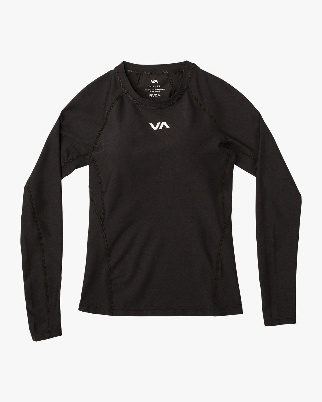 6 VA Performance Long Sleeve Shirt Black TR73QRJL RVCA