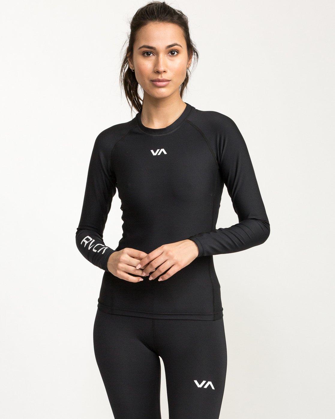 0 VA Performance Long Sleeve Shirt Black TR73QRJL RVCA