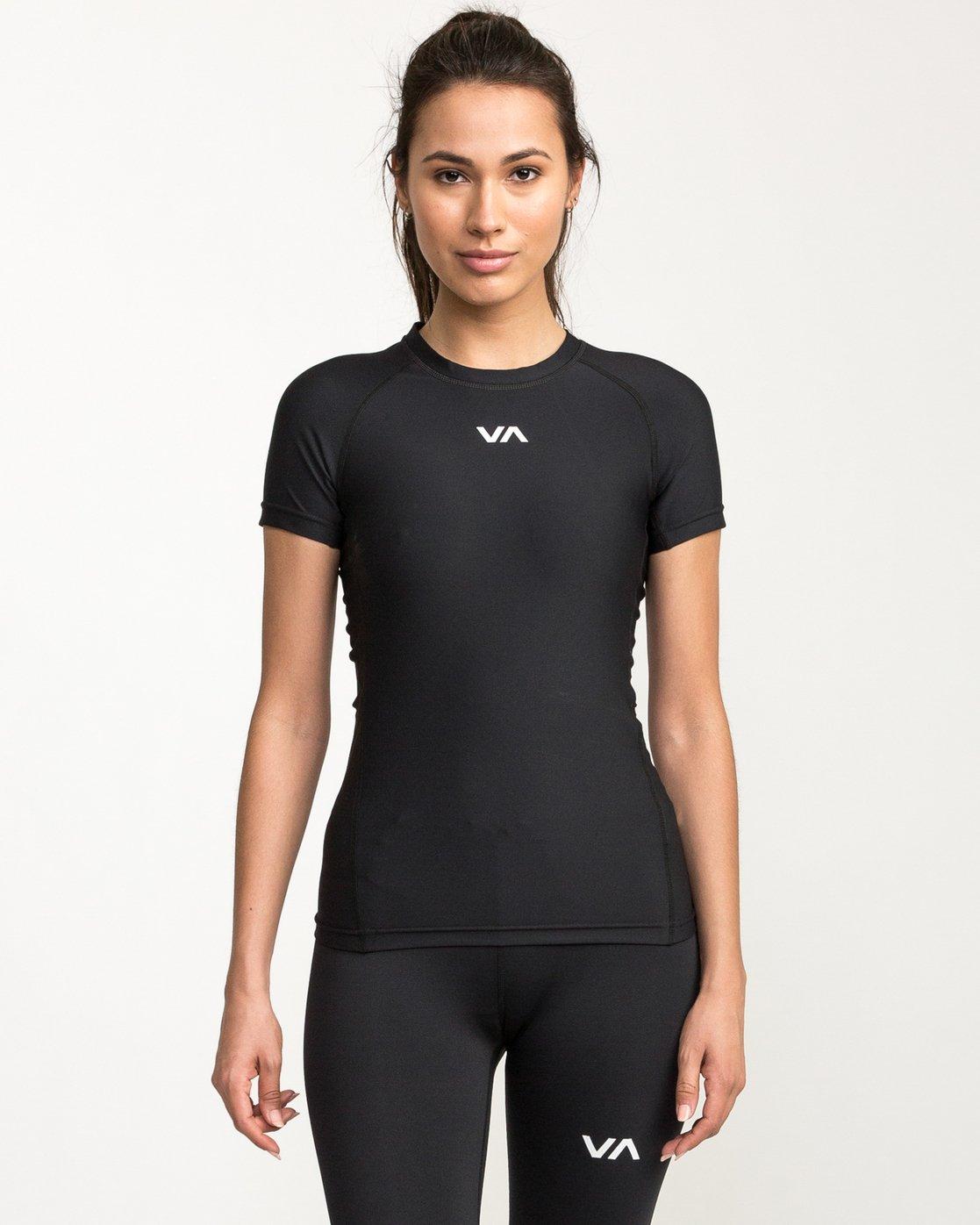0 VA Performance Short Sleeve Shirt Black TR74QRJS RVCA