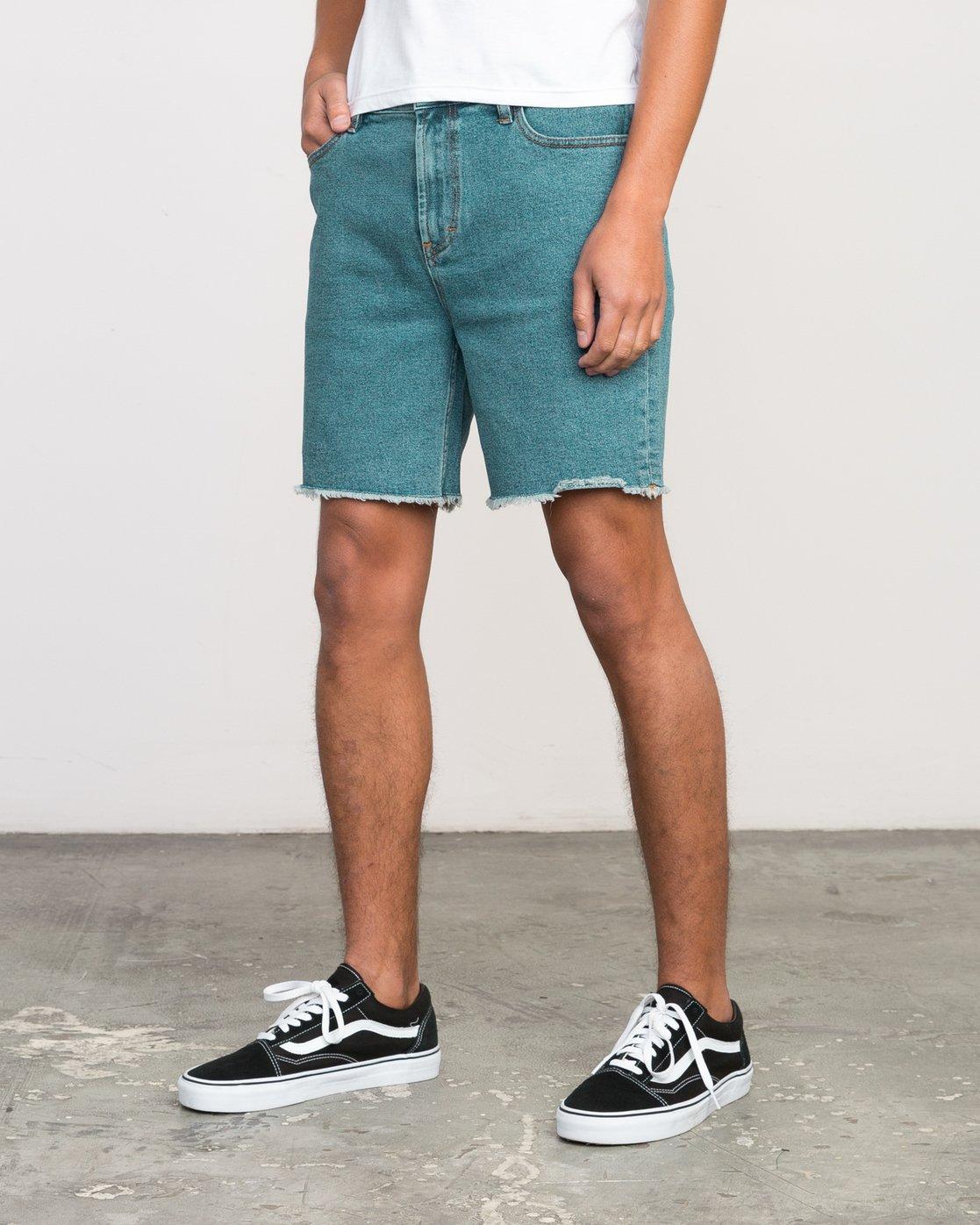 2 Neutral Carver Denim Shorts Blue U252PRCA RVCA