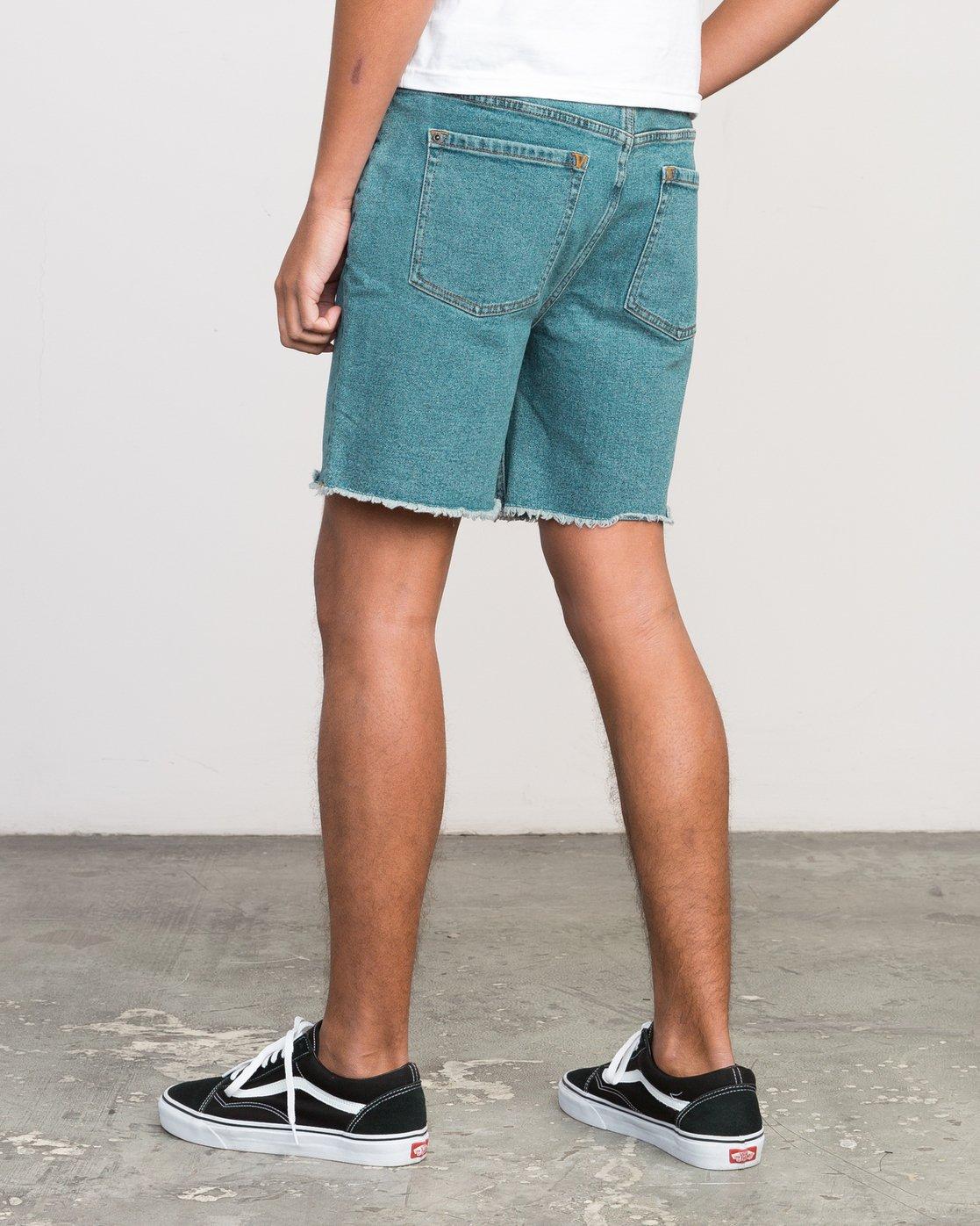3 Neutral Carver Denim Shorts Blue U252PRCA RVCA