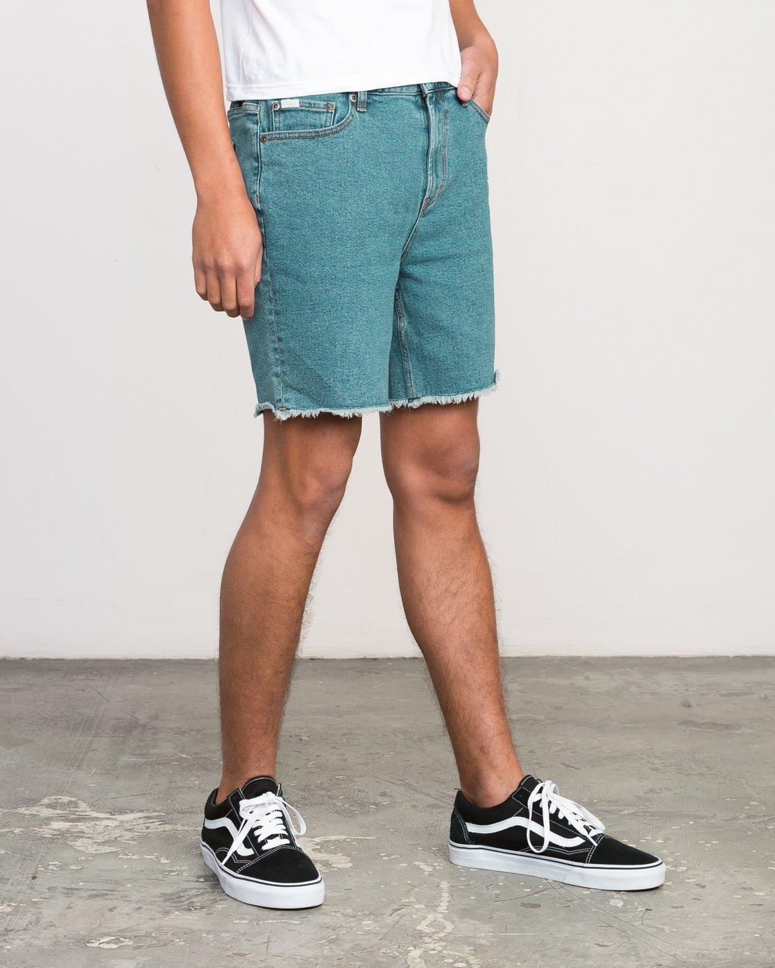6 Neutral Carver Denim Shorts Blue U252PRCA RVCA