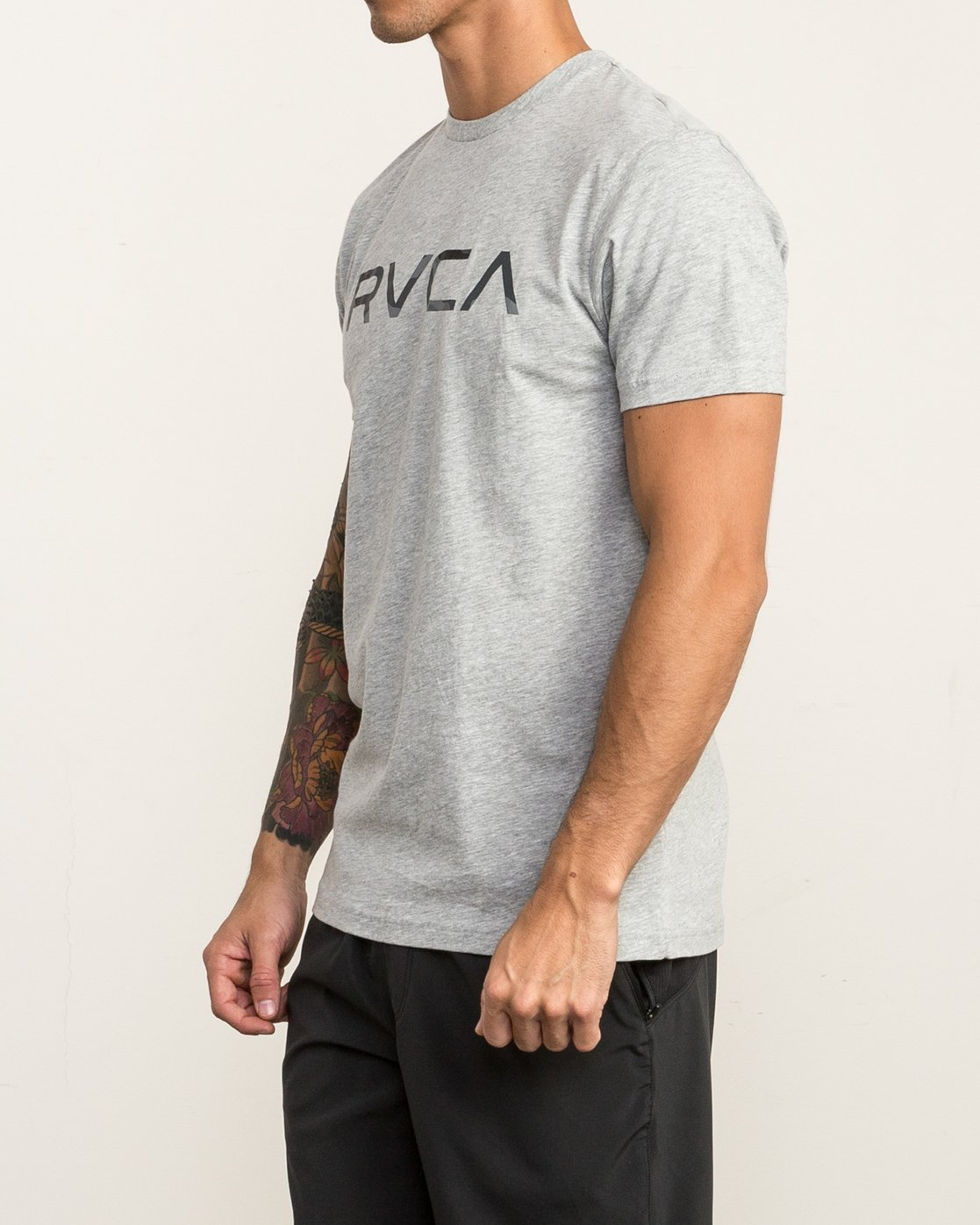 3 Big RVCA Sport T-Shirt Grey V402SRBI RVCA