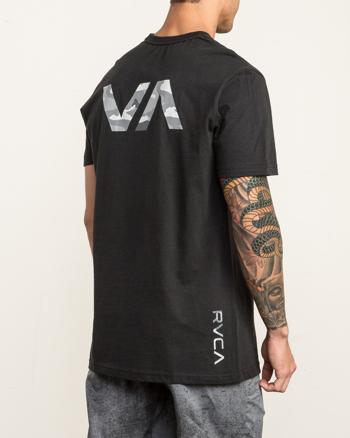 4 Big RVCA Sport T-Shirt Black V402SRBI RVCA