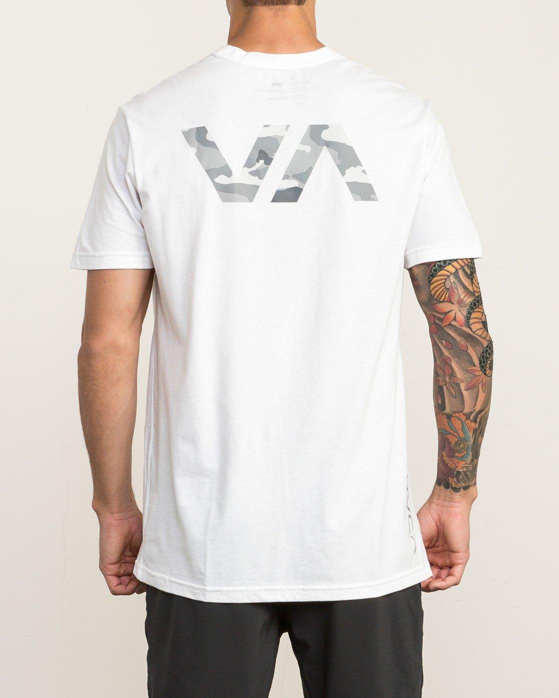 4 Big RVCA Sport T-Shirt White V402SRBI RVCA