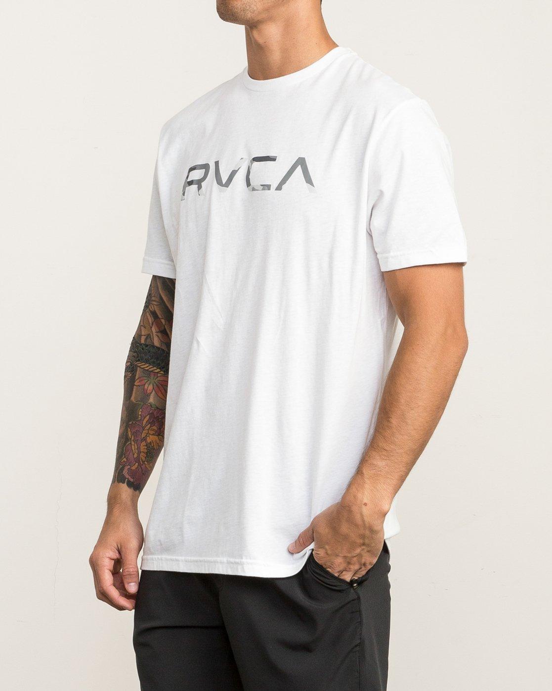 3 Big RVCA Sport T-Shirt White V402SRBI RVCA