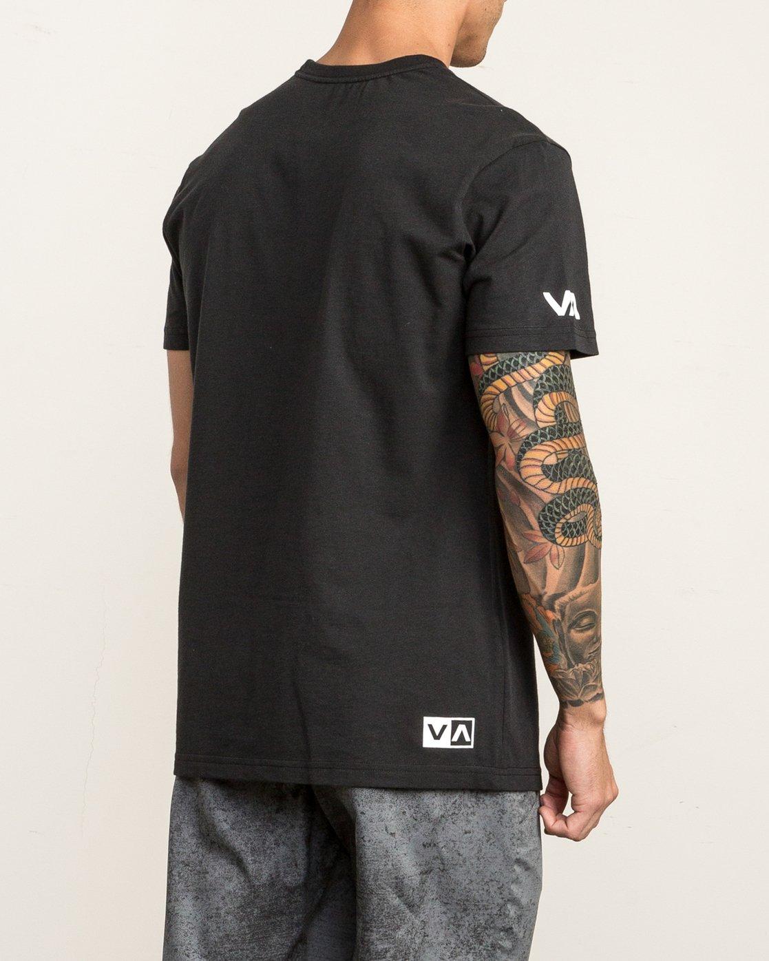 4 RVCA Vert T-Shirt Black V402SRRV RVCA