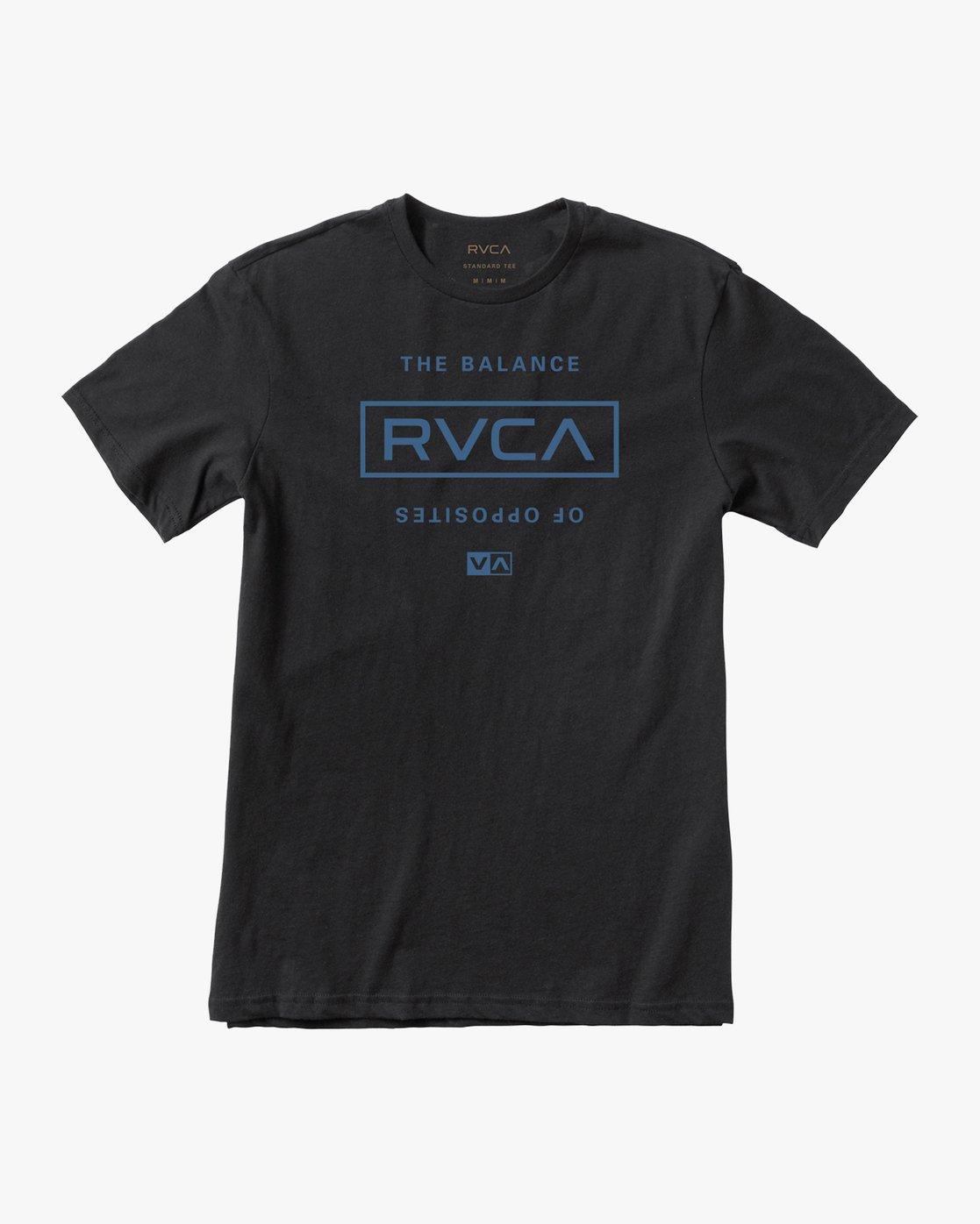 0 Stacked T-Shirt Black V402SRST RVCA