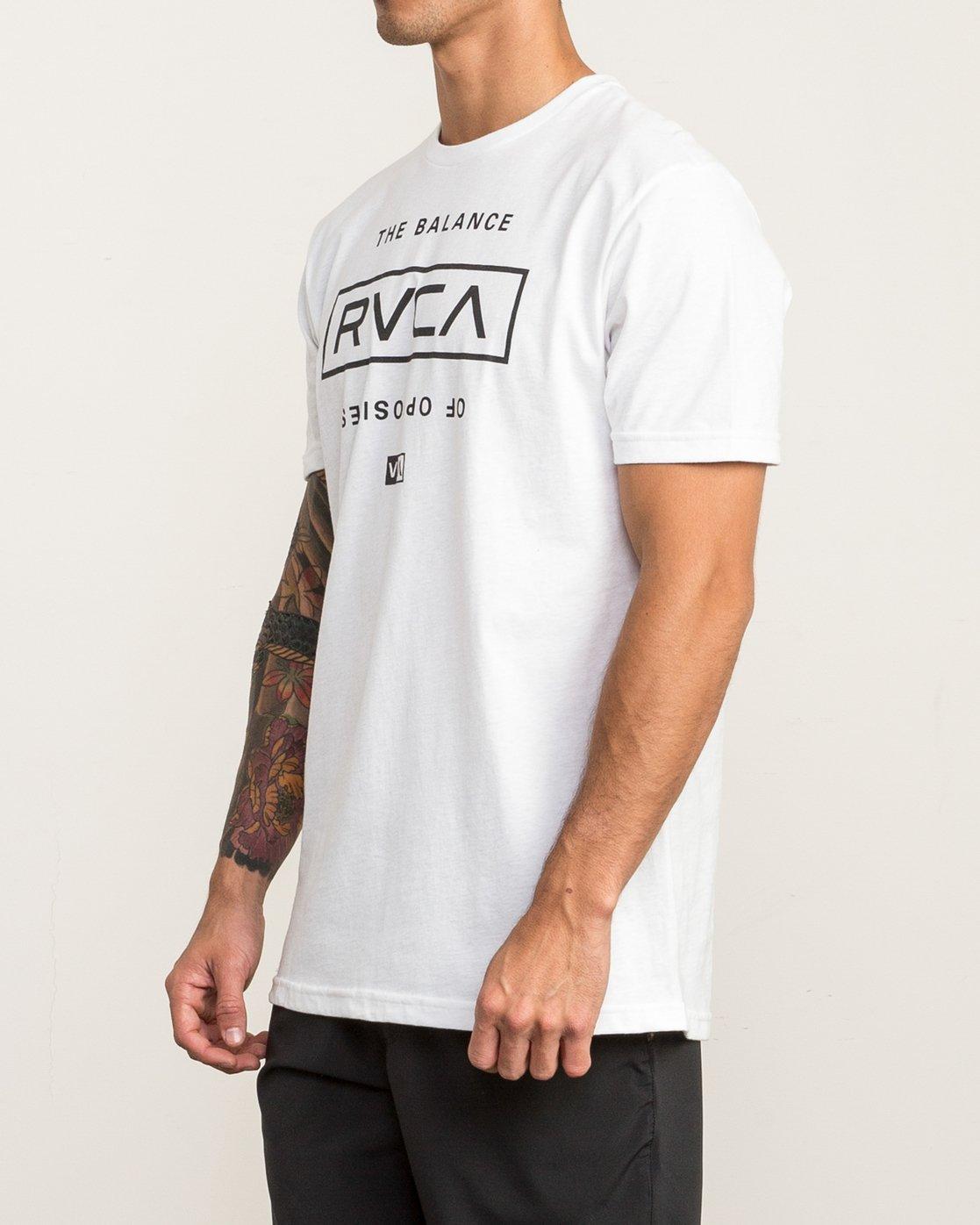 3 Stacked T-Shirt White V402SRST RVCA