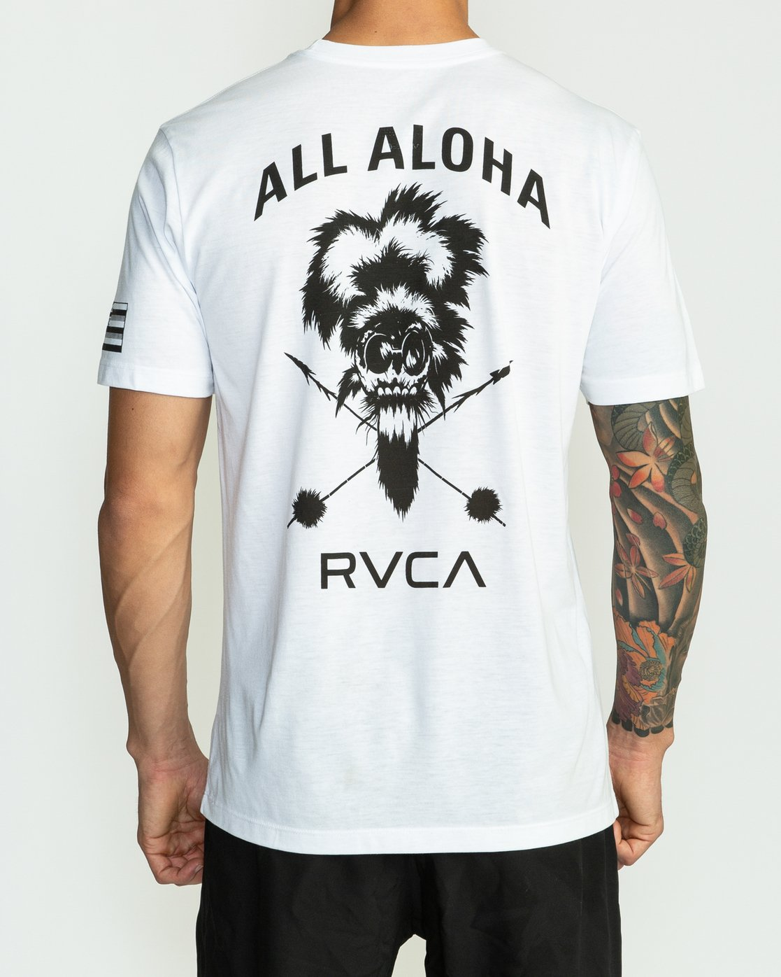 4 BJ Penn TKO Sport T-Shirt White V404SRTK RVCA