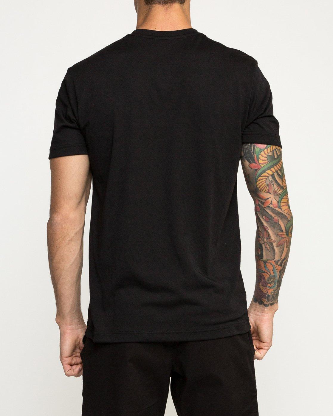 3 Big Defer Performance T-Shirt Black V404TRBI RVCA