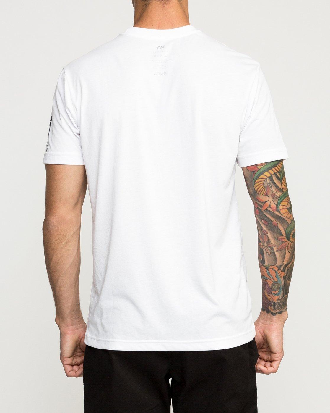 3 Big Defer Performance T-Shirt White V404TRBI RVCA