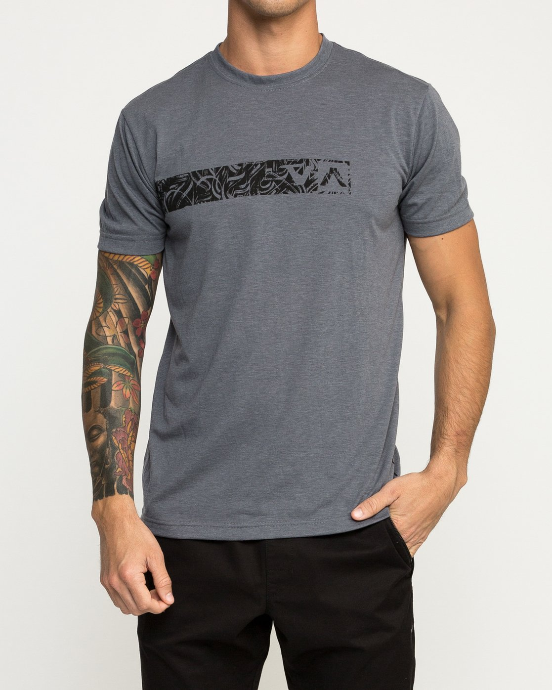 1 Defer Bar Performance T-Shirt Grey V404TRDE RVCA