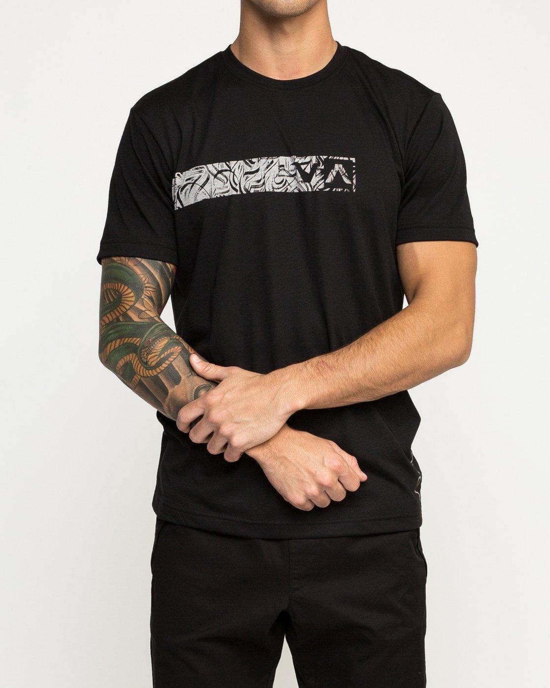 1 Defer Bar Performance T-Shirt Black V404TRDE RVCA