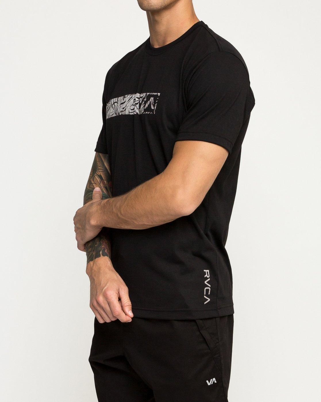 2 Defer Bar Performance T-Shirt Black V404TRDE RVCA