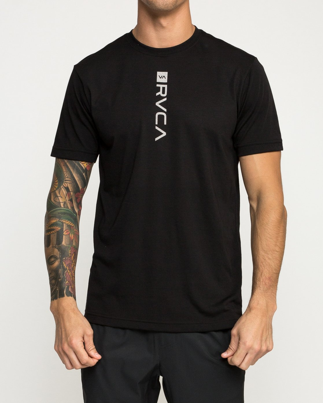 1 RVCA Verted Performance T-Shirt Black V404TRRV RVCA