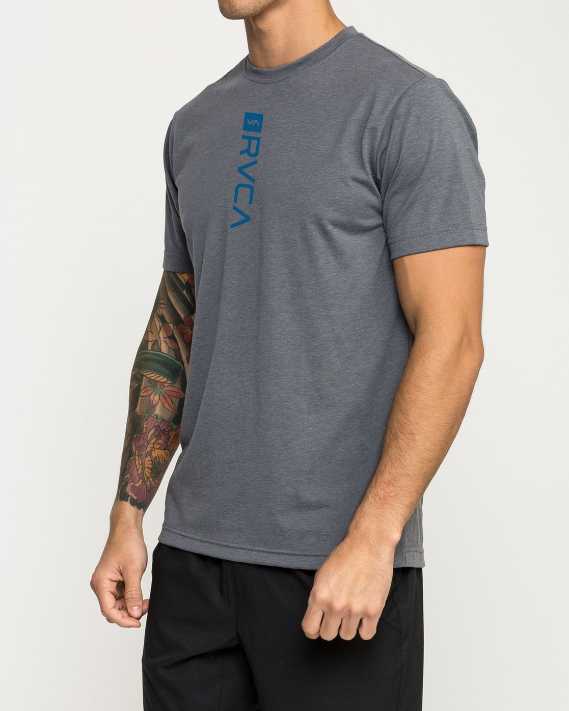 2 RVCA Verted Performance T-Shirt Grey V404TRRV RVCA