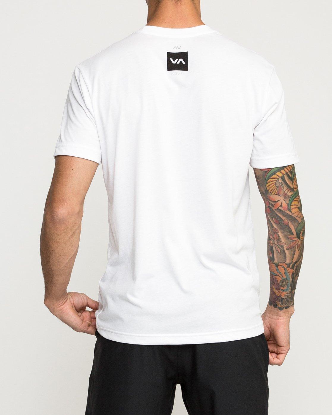 3 RVCA Verted Performance T-Shirt White V404TRRV RVCA