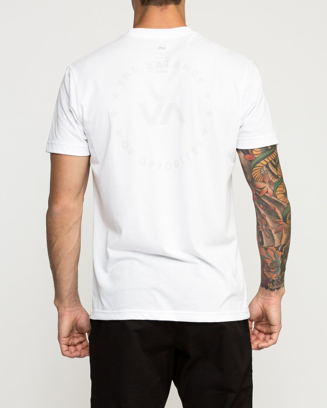 4 Stealth Seal Performance T-Shirt White V404TRST RVCA