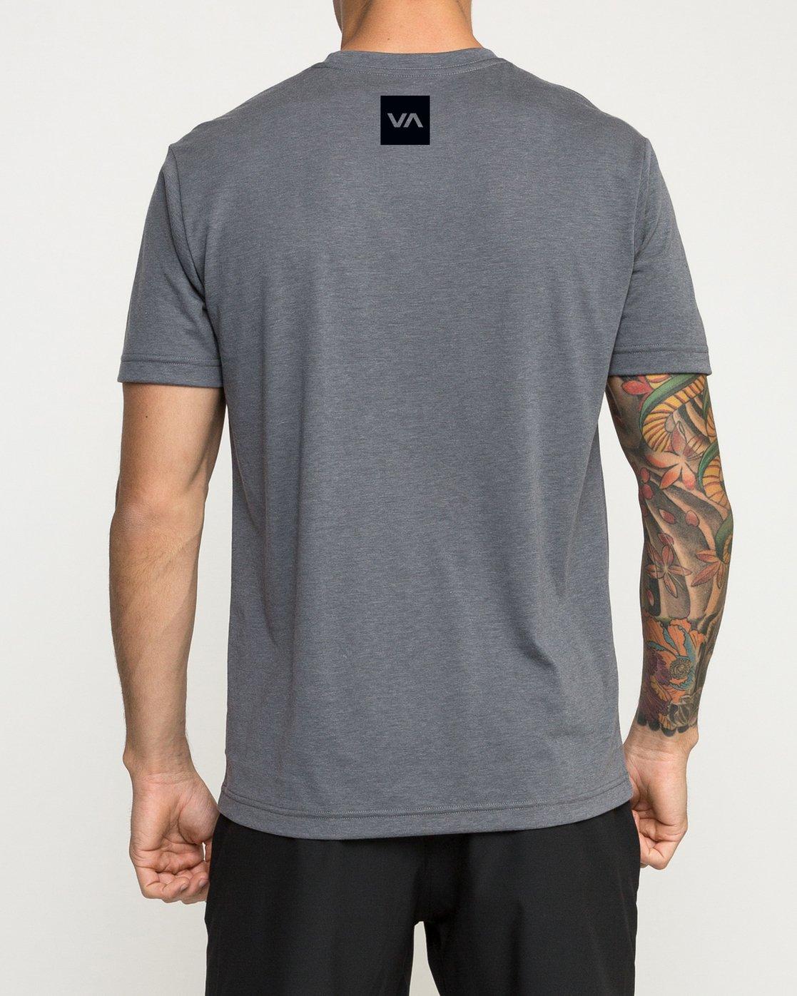 3 VA Corners Performance T-Shirt Grey V404TRVA RVCA