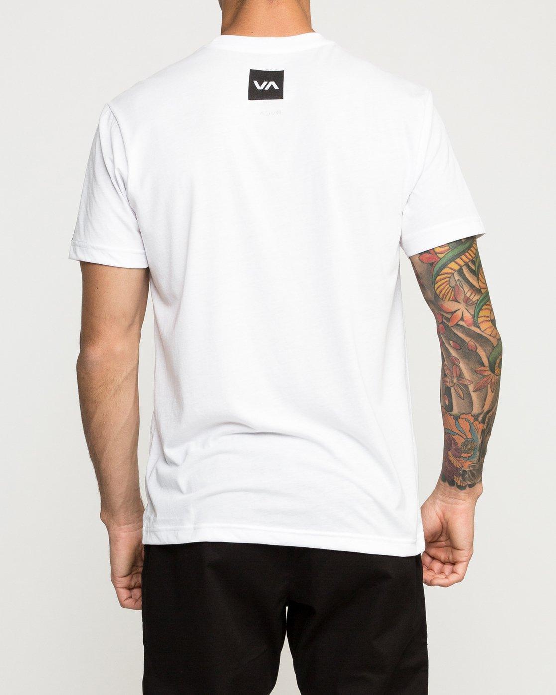 3 VA Corners Performance T-Shirt White V404TRVA RVCA