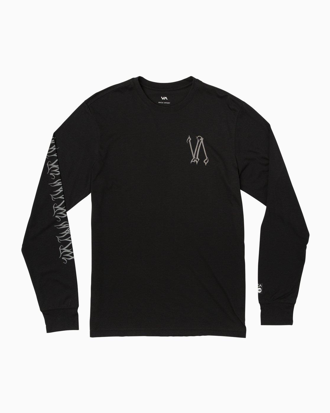 0 Defer Sphere Performance T-Shirt Black V453TRDE RVCA