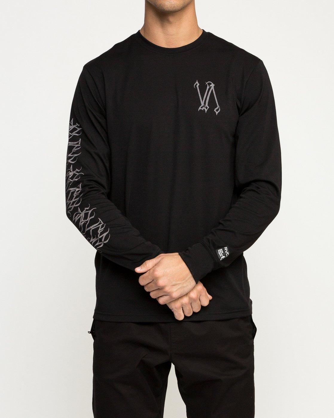 2 Defer Sphere Performance T-Shirt Black V453TRDE RVCA