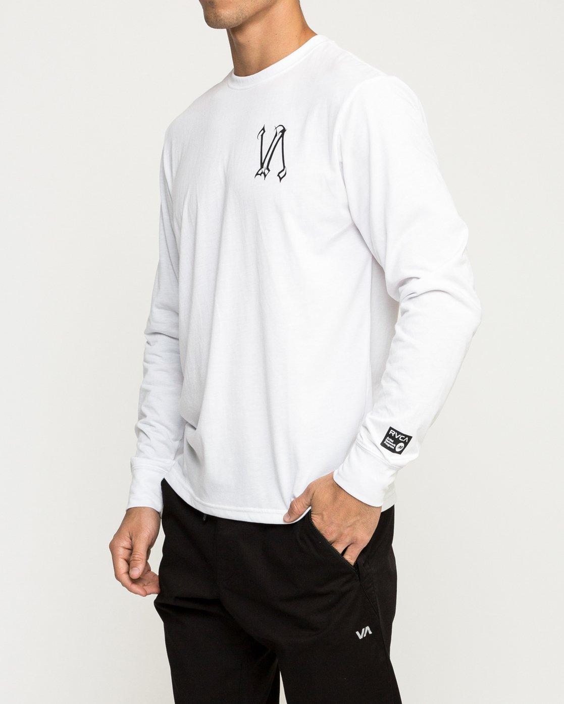 3 Defer Sphere Performance T-Shirt White V453TRDE RVCA