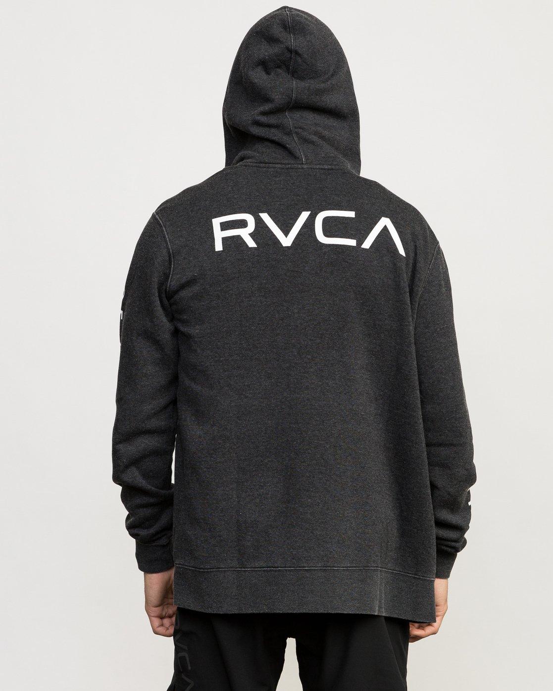 6 VA Guard Fleece Hoodie Black V605QRGH RVCA