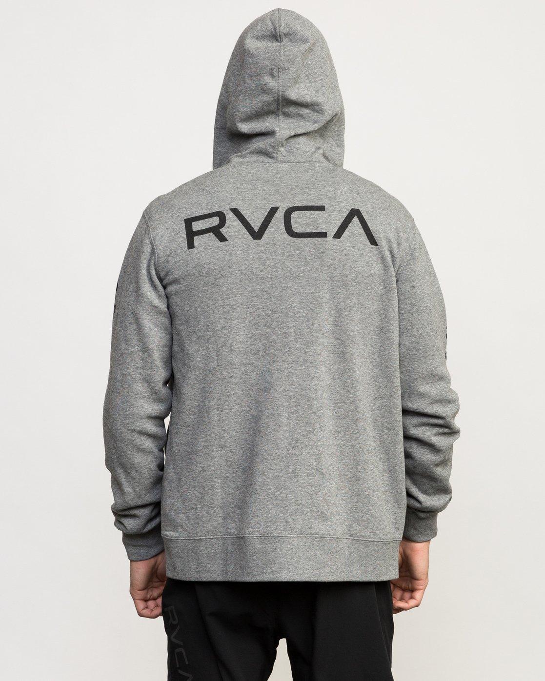5 VA Guard Fleece Hoodie Grey V605QRGH RVCA