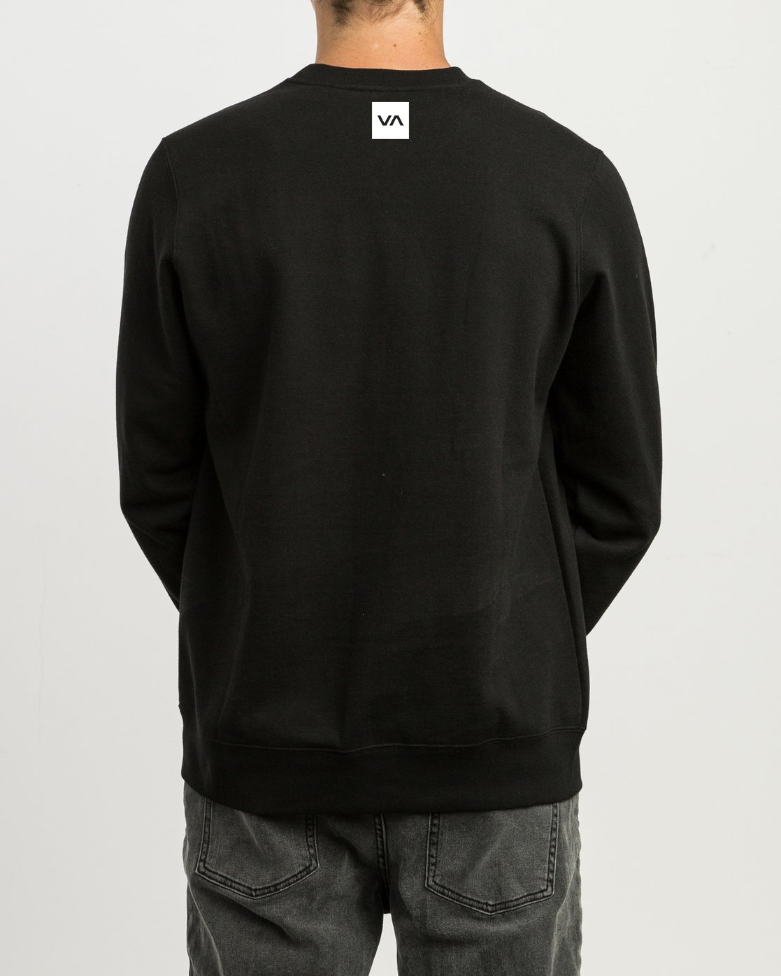 3 Reverted Crew Sweatshirt Black V622TRRR RVCA