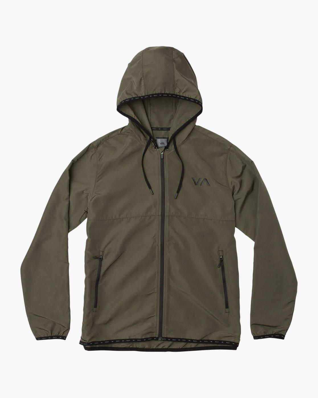0 Axe Packable Jacket Green V701QRAX RVCA