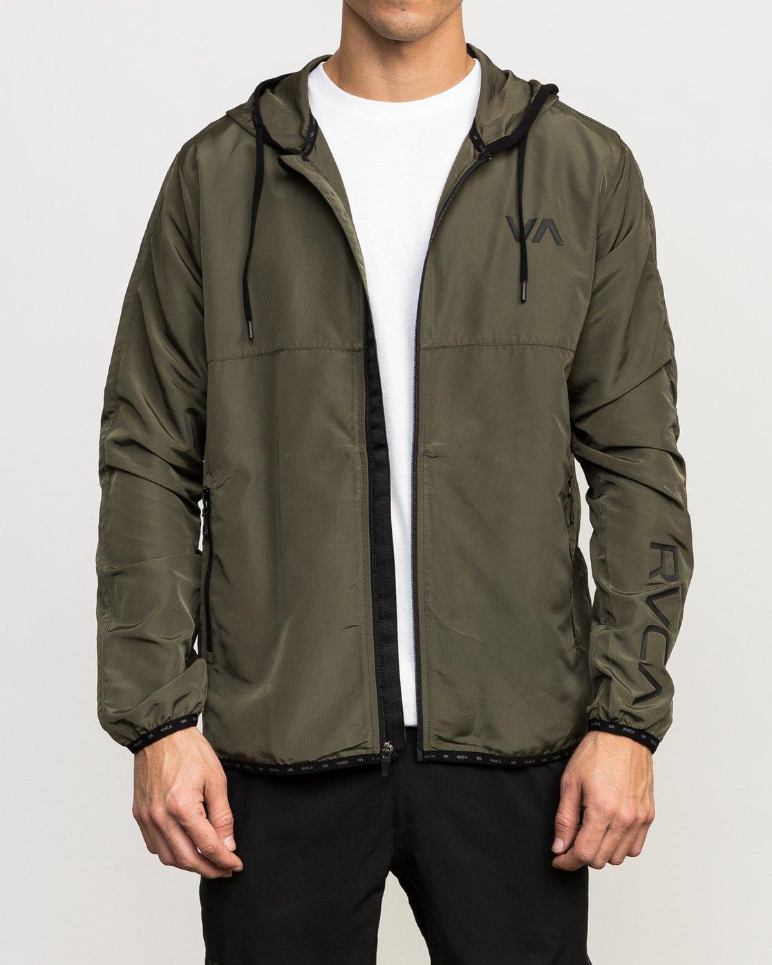 2 Axe Packable Jacket Green V701QRAX RVCA