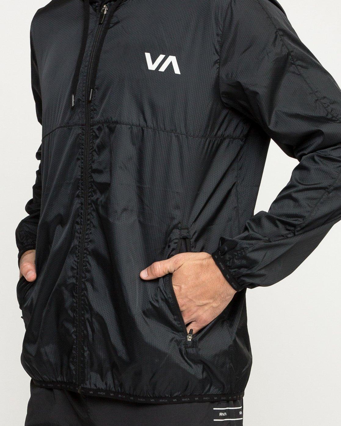 5 Hexstop IV Jacket Black V701TRHP RVCA