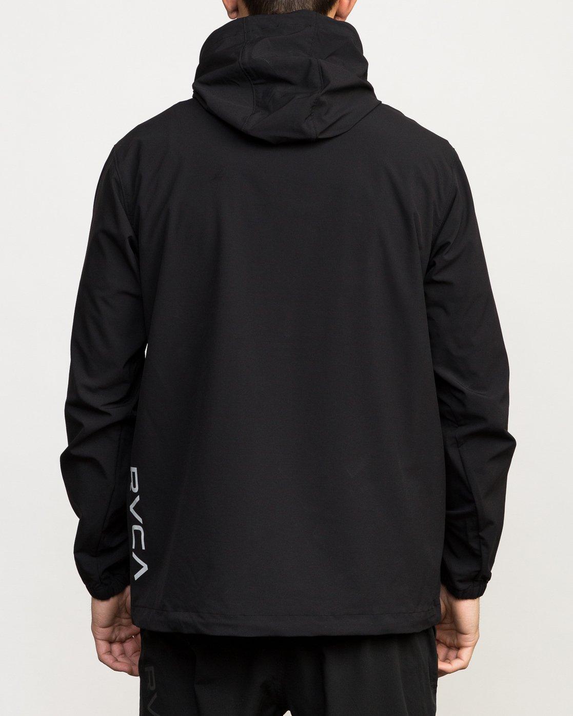 5 VA Anorak Jacket Black V702QRAN RVCA