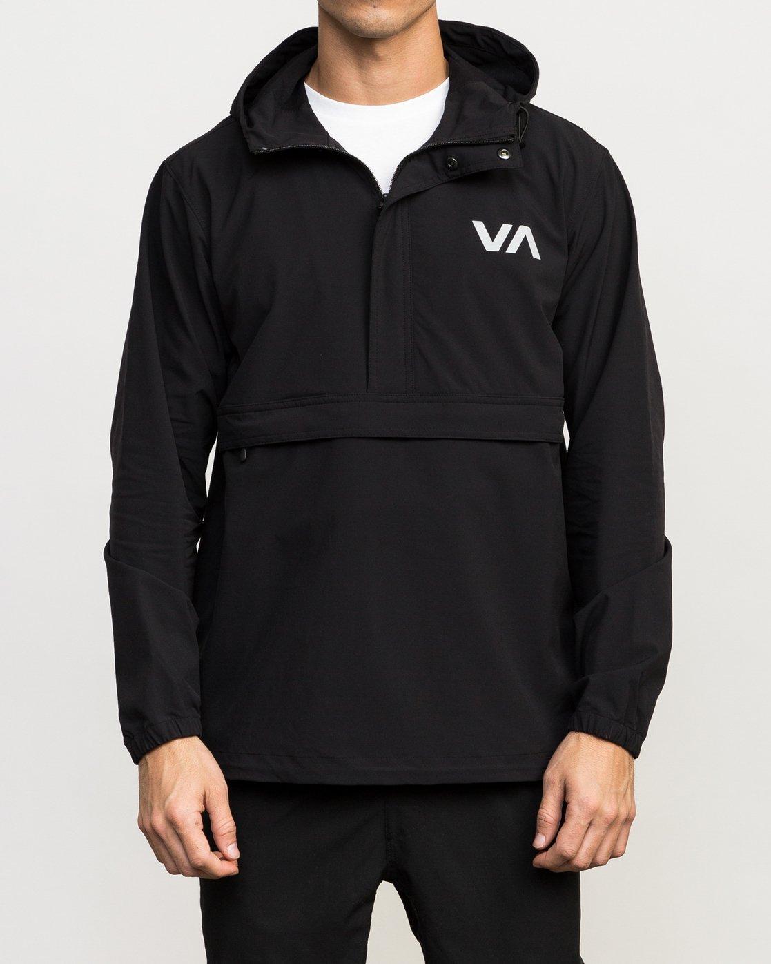 2 VA Anorak Jacket Black V702QRAN RVCA