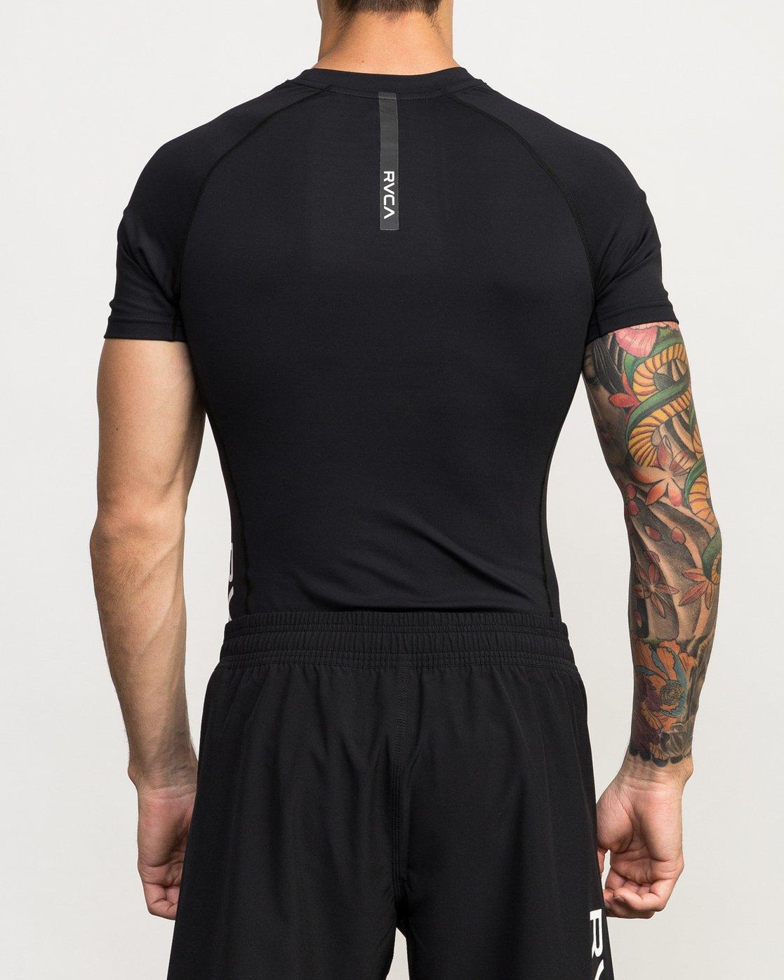 3 VA Performance Short Sleeve Shirt Black V901QRCS RVCA