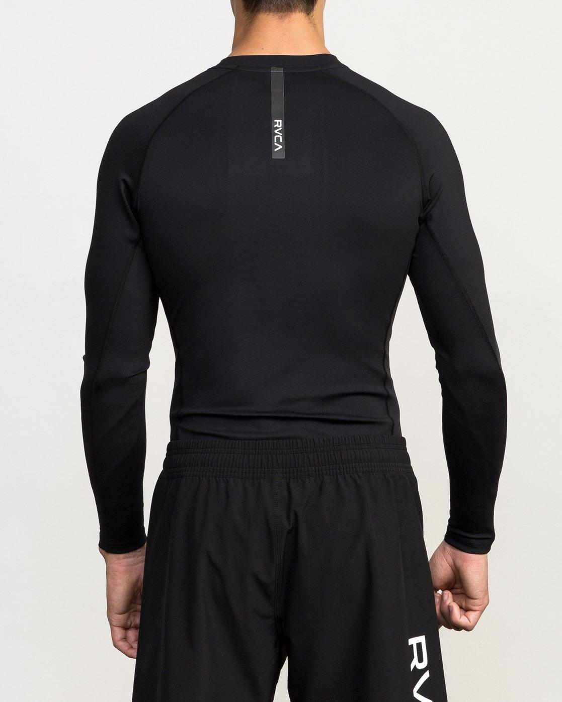 4 VA Performance Long Sleeve Shirt Black V902QRCL RVCA