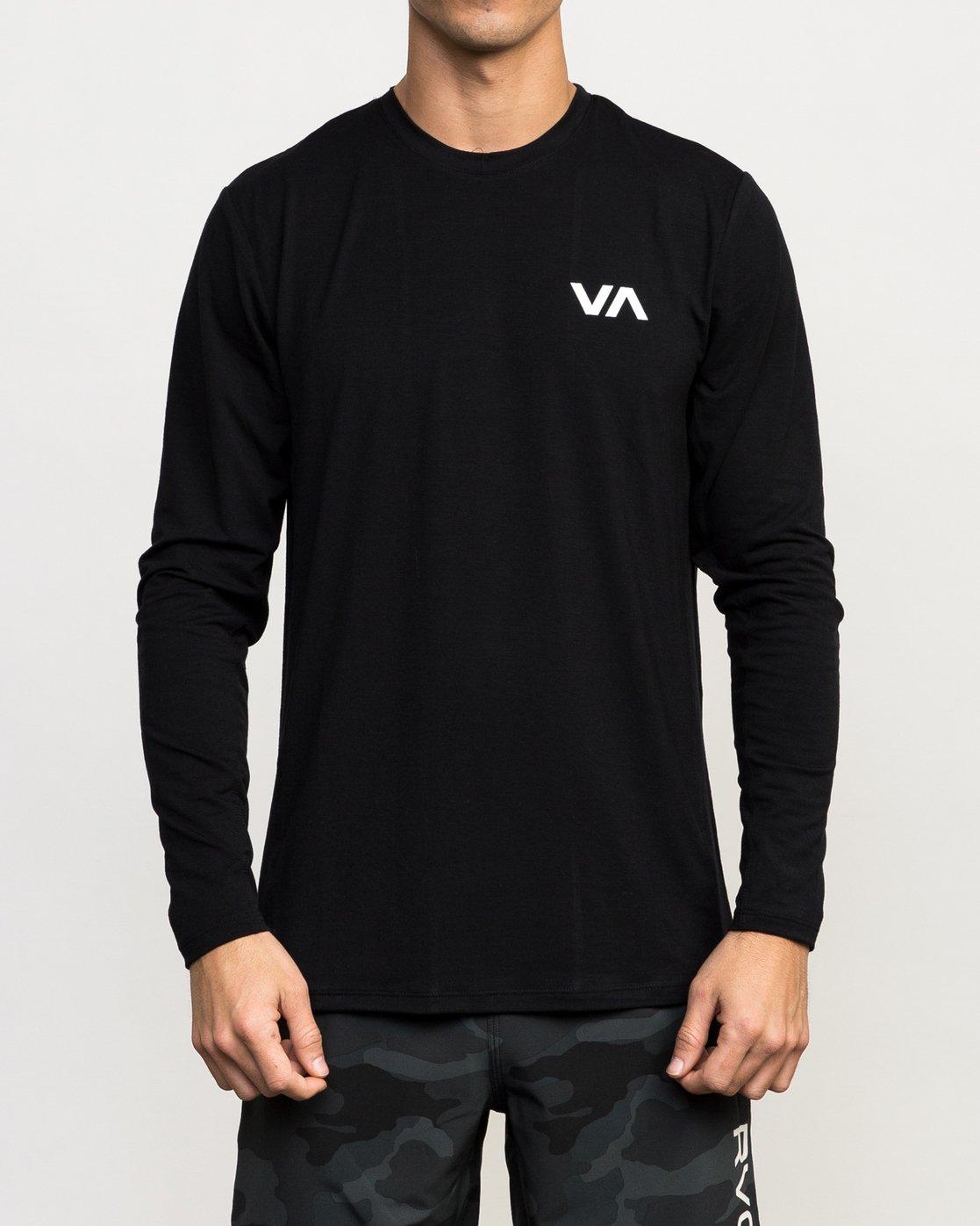1 VA Vent Long Sleeve Top Black V903QRVL RVCA