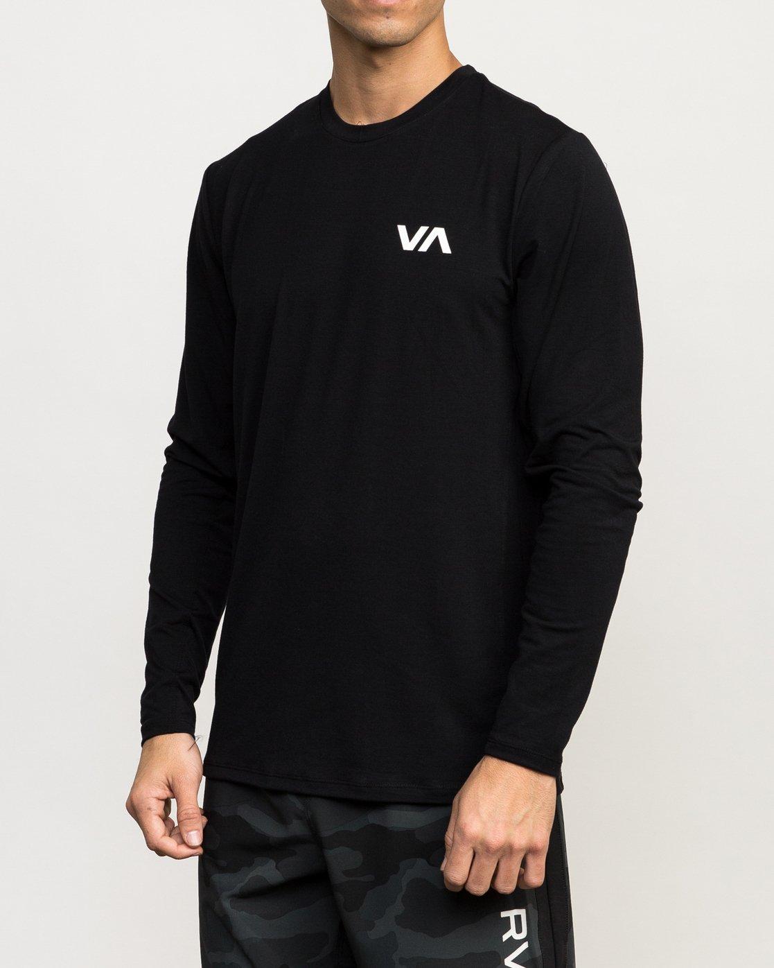 2 VA Vent Long Sleeve Top Black V903QRVL RVCA