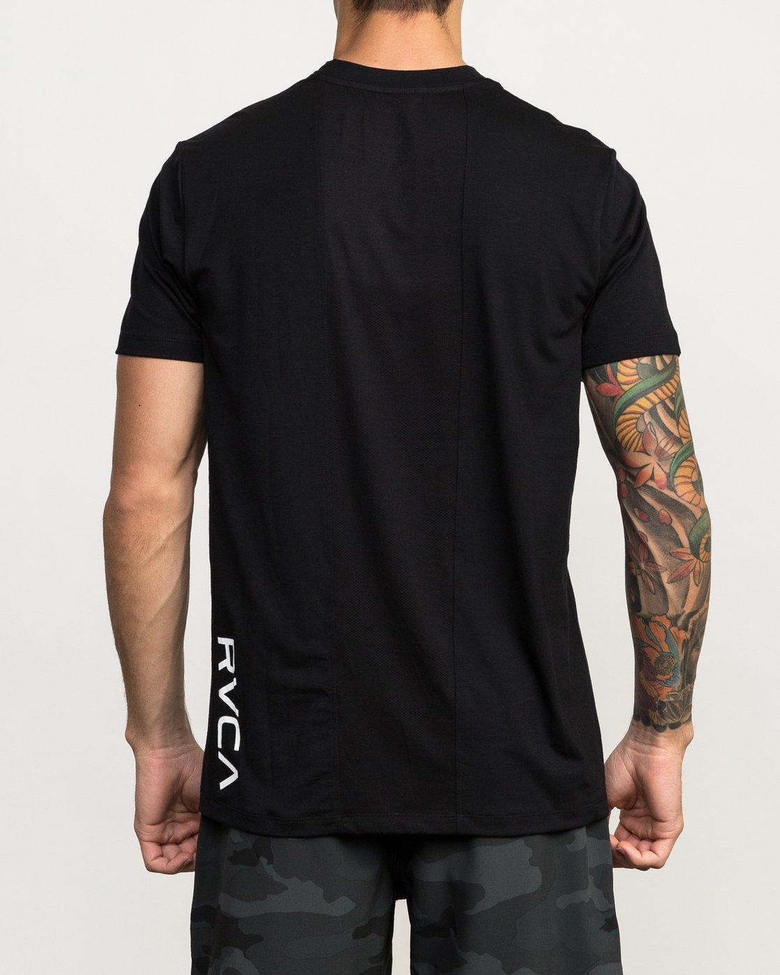 4 VA Vent Short Sleeve Top Black V904QRVS RVCA