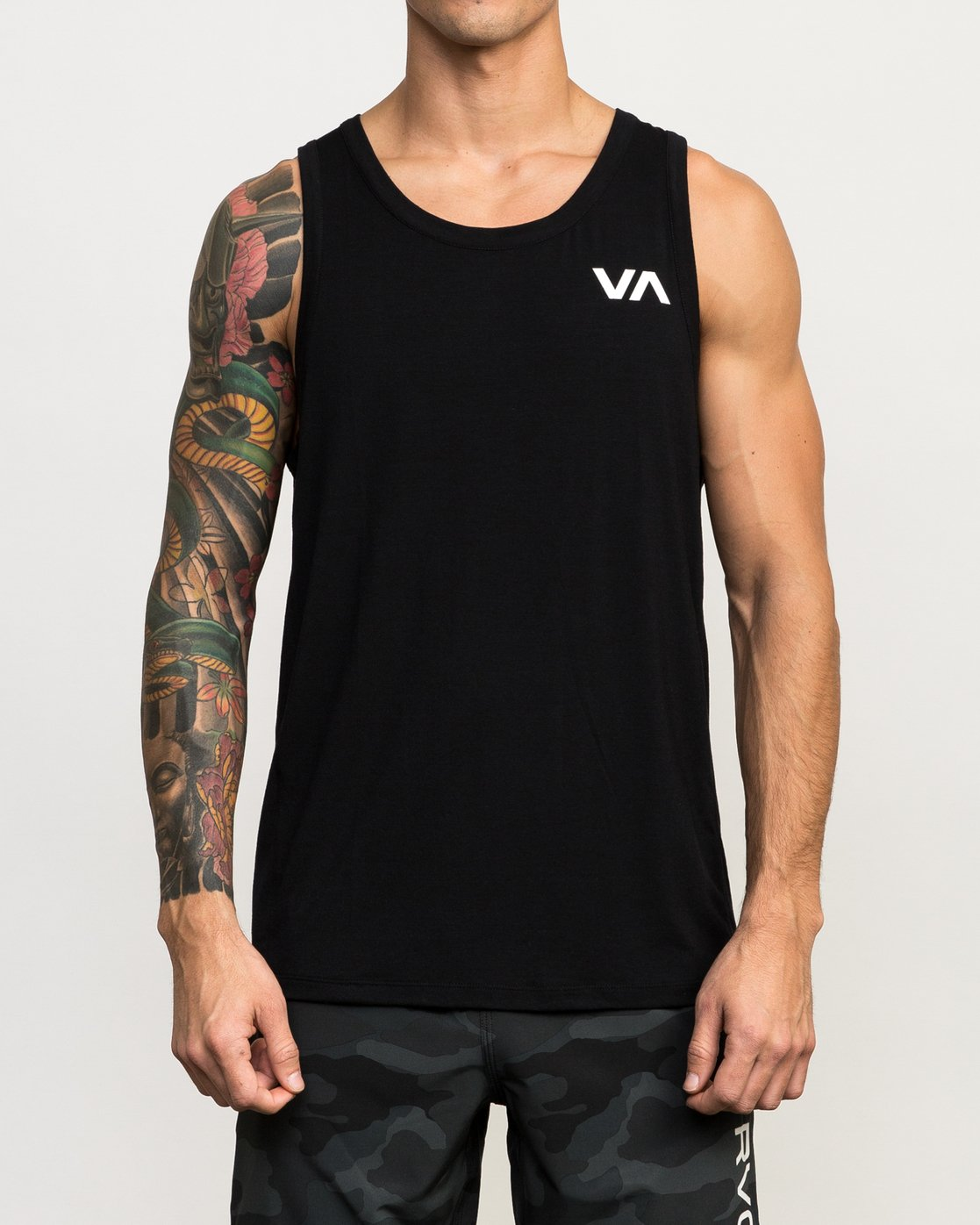 1 VA Vent Tank Top Black V905QRVT RVCA